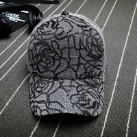 2018 new luxury Rose Shiny Sequins Baseball Caps Sun-Protective Breathable Mesh Adjustable Visor Men Women Hip-Hop Stylish Hats