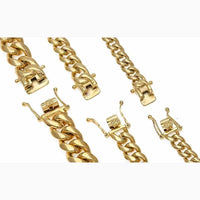 New Arrival 8/10/12/14mm Stainless Steel Miami Curb Cuban Chain Necklaces Casting Dragon Lock Clasp Mens Link Jewelry MX190730