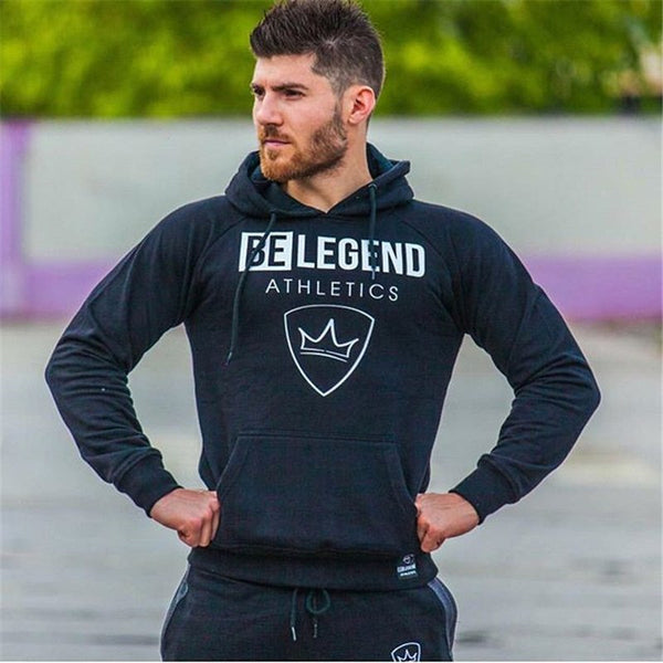 2019 Men Hoodies Gym Sport Running Fits bodybuilding Sweatshirt Crossfit Pullover Sportswear Male Workout Hooded Jacket