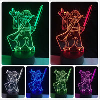 2019 NEW 3D Lamp Stormtrooper Knight Yoda Jedi Warrior Trek Death Star War LED NIGHT LIGHT Multicolor Cartoon Toy Luminaria LAVA