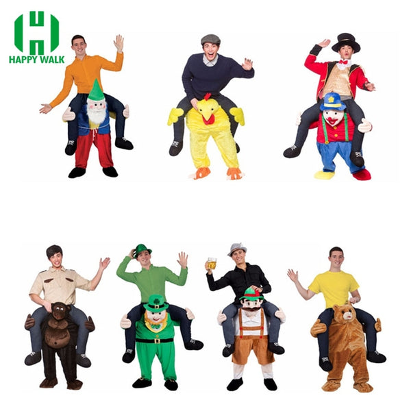 2019 New Ride on Bear Oktoberfest Costume Animal Funny Dress Up Halloween Cosplay Fancy Pants Novelty Mascot Custome In stock