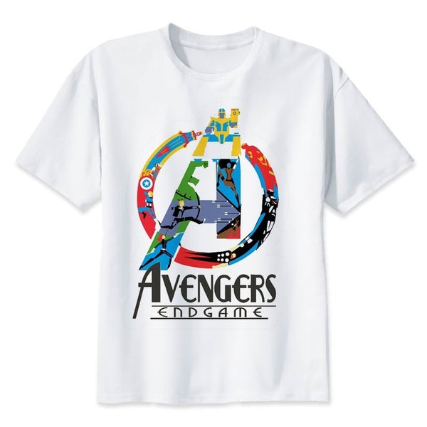 2019 Neweset Avengers Endgame T Shirt Men/women Ironman Captain America End Game Marvel T-shirt Superhero Custom TShirt Male