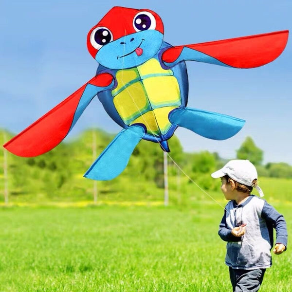 2019 Strong Cute Turtles kite Long Red Tail Huge Toy Kites for Kids /Adults Family playing Good Flying Kites with kite string
