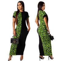 2019 autumn summer women Fashion Leopard Print bodycon long Maxi dress sexy club party dresses vestidos plus size GLLD8600