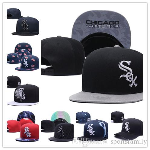 2019 New Arrived Chicago fashion gorras planas Hat Adjustable white sox Baseball bones aba reta Snapback Hockey Cap Adjustable Hiphop chape