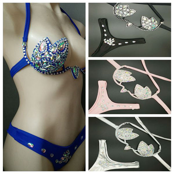 2019 venus vacation diamond bikini set new women swimwear crystal rhinestone bathing suit new design sexy brazilian swimsuit