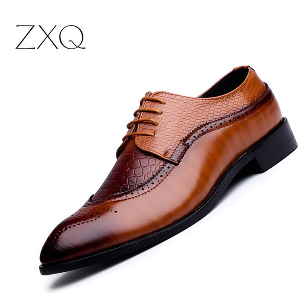 Buy Cheap Meijiana Snake Leather Men Oxford Shoes Lace Up Casual Business Men Pointed Shoes Brand Men Wedding Men Dress Boat Shoes Moderate Price Formal Shoes