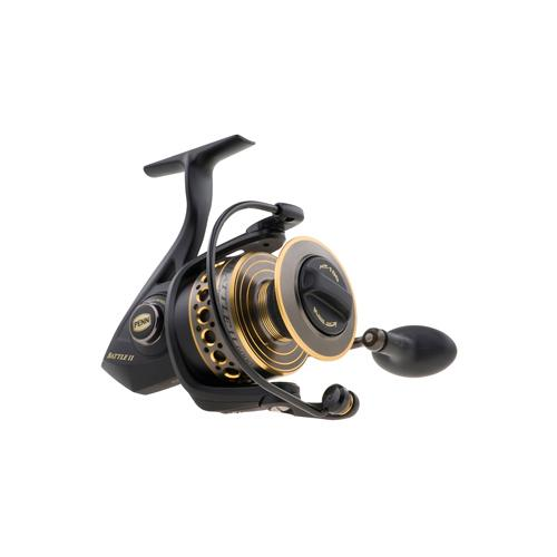 "Battle II Spinning Reel 4000 Size, 6.2:1 Gear Ratio, 37"" Retrieve Rate, 15 lbs Max Drag, Ambidextrous"