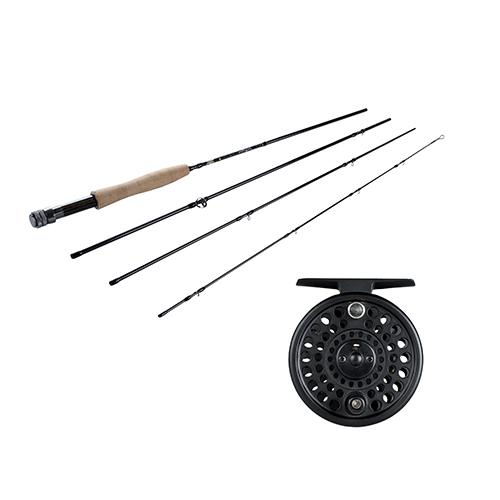NightHawk Fly Kit 3/4 Reel Size, 1.1:1 Gear Ratio, 8' Length, 4 Piece Rod, 4wt Line Rating