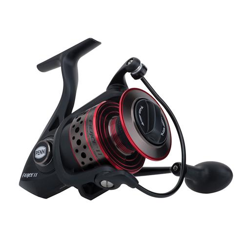 Fierce II Spinning Reel 5000, 5.6:1 Gear Ratio, 5 Bearings, 20 lb Max Drag, Ambidextrous, Clam Package