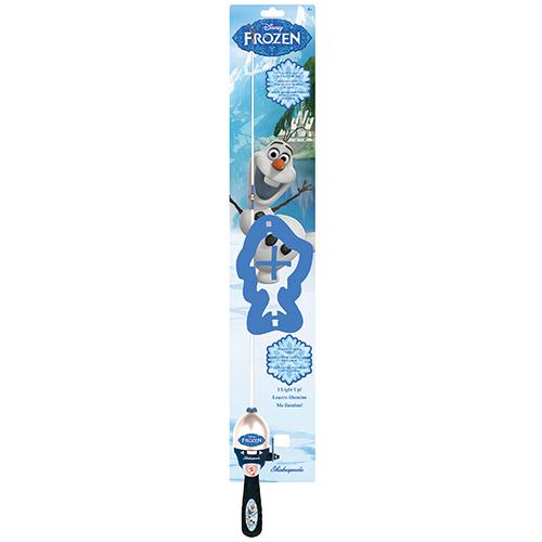 "Disney Frozen Olaf Lighted, 2'6"" Length, 1 Piece Rod, Medium Power, Right Hand"