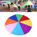 2M/3M Kids Parachute Toy Sport Outdoor Games Gymnastics Toy Child Sport Development Rainbow Umbrella Teamwork Jump-sack Ballute