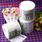 2Packs 30m/pack 100Euros money Printed Paper Toilet Tissues Roll Toilet Paper Novelty Toilet Tissue Wholesale