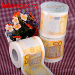2Packs 30m/pack 50Euros money Printed Toilet Paper Toilet Tissues Roll Toilet Paper Novelty Toilet Tissue Wholesale