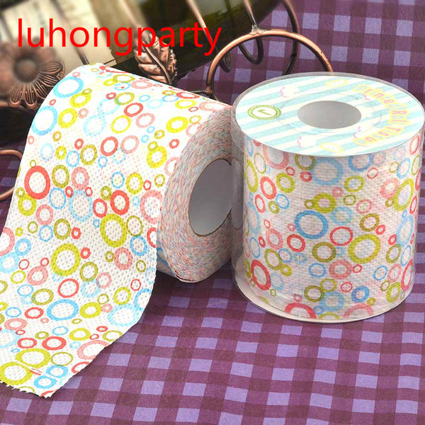 2Packs 30m/pack Dots Sweet circle Printed Toilet Paper Toilet Tissues Roll Toilet Paper Novelty Toilet Tissue Wholesale