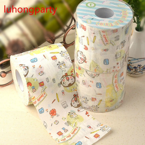2Packs 30m/pack cute girl lovely cha Printed Paper Toilet Tissues Roll Toilet Paper Novelty Toilet Tissue Wholesale