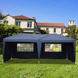3*6m Four Windows/Two Windows Practical Waterproof Folding Tent White blue garden Gazebos for Outdoor Use Parking