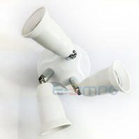 3-in-1 Multi light bulb adapter,LED Light Socket Splitter