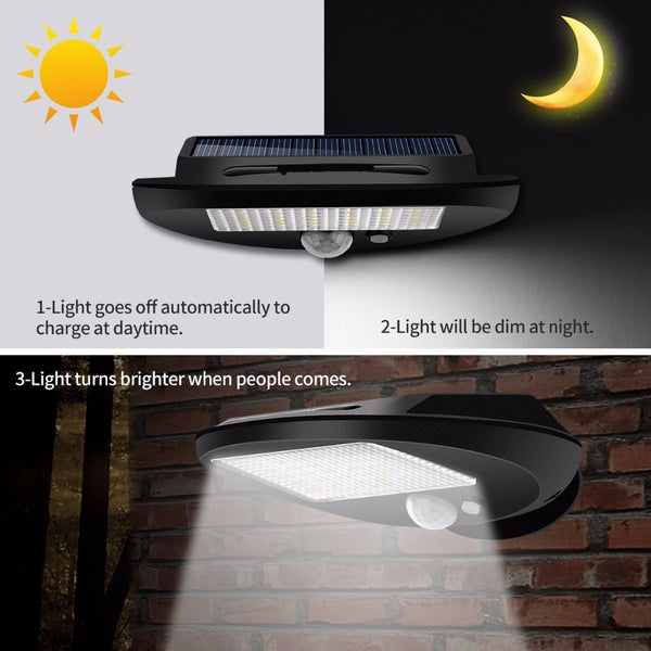 300lm IP65 waterproof LED Solar Light Outdoor Lighting PIR Motion Sensor Solar panel Powered Light For garden wall lamp