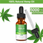 Hemp Oil for Pain Relief Help Sleep Aid Anti Stress 1000/5000mg Hemp Extract Drops ECO Finest Facial Body Skin Care