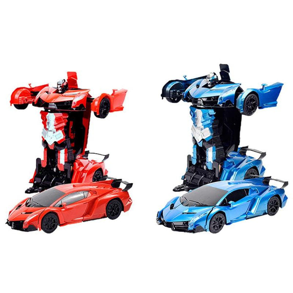 360-degree Rotation Transformation Robots RC Car Sports Car Models Collision Deformation Classic Car RC Robots Kids Toys
