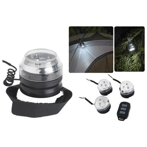 Swiss+Tech Portable LED Light Pod System, 3 Light Pack with Remote