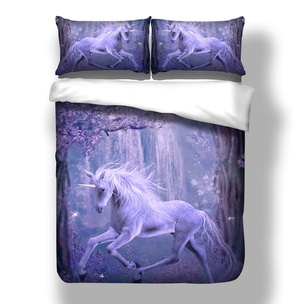 3D Animal Bedding Set Unicorn Duvet Cover With Pillowcases Single Twin Full Queen King Size 3PCS Quilt Cover