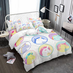 3D Bedding Set Unicorn Print Duvet Cover Set Lifelike Bedclothes with Pillowcase Bed Set Home Textiles