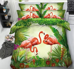 3D Flamingo bedding sets comforter queen size Cal California King twin bed sheet set linen duvet cover double single bedset 5PCS