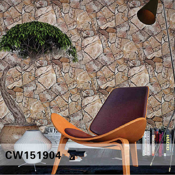3D Rock Stone Wallpaper Waterproof for Background Living Room PVC Wall Paper Roll Stereoscopic Look Wall Papel De Parede