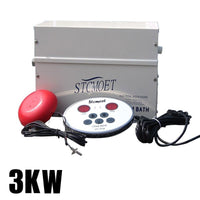 3KW 220V Sauna Steam Machine Steam Generator Home Dry Streaming Furnace Wet Digital Controller Steamer ST-30