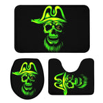 3Pcs Toilet Seat Cushion Suit Cool Mexico Skull 3D Printing Doormats Anti-Slip Suction Grip Bath Mats Bathroom Eco Friendly Rug