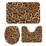 3Pcs Toilet Seat Cushion Suit Leopard 3D Printing Rug Anti-Slip Suction Grip Bath Mat Kitchen Washroom Bathroom Eco Friendly Rug