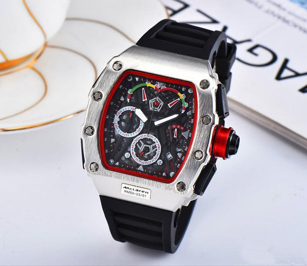 Top Brand Luxury Quartz Watch Men Casual Rubber band Military Waterproof reloje