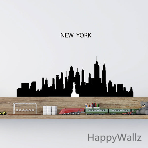 3d City Landscape Wall Sticker Modern City Wall Decal DIY Decorating Vinyl Wall Modern City Wallpaper S30
