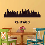 3d City Landscape Wall Stickers Modern City Wall Decals DIY Decorating Vinyl Wall Modern City Wallpaper S31