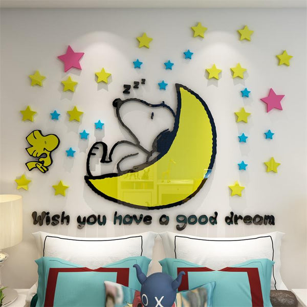 3d stereo wall stickers mildew moisture self-adhesive children room decoration bedroom wall cartoon cute stickers