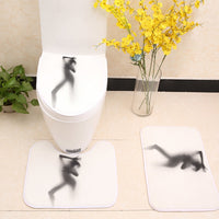 3pcs/lot Creative Sexy Printed Toilet Seat Cover Flannel Fabric Toilet Case Non-slip Mat Bathroom Products Home Decoration
