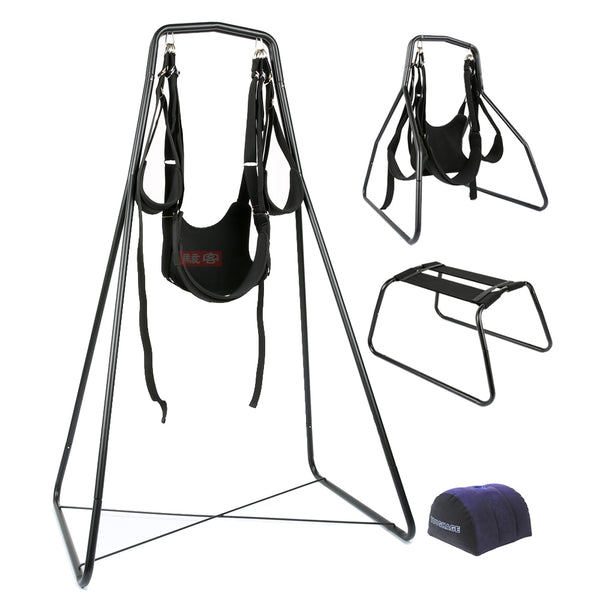 4 in 1(Sex Swing+Chair+Pillow)Adjustable Restraints Fetish Sex Position Bondage(Nylon+Sponge+Metal)Sex Furniture For Couples