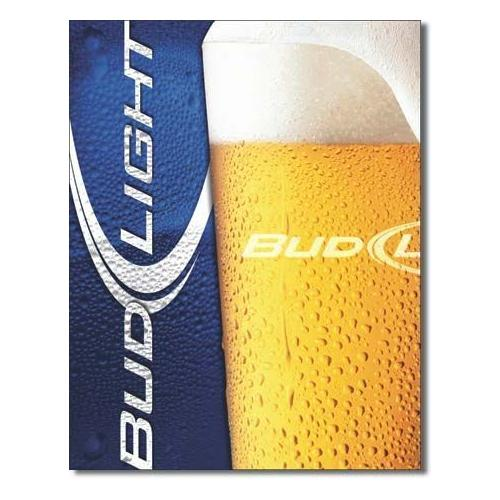 Tin Sign : Bud Light - Frosty Glass