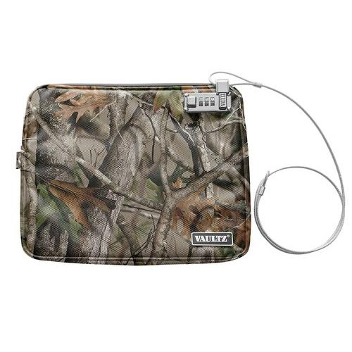 Vaultz Water-Resistant XL Locking Field Pouch with Tether, Camo