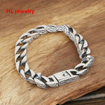 45.46G Alibaba Express 925 Sterling Silver Jewelry Bracelets for Women Men Vintage S925 Solid Thai Silver Chain Bracelets