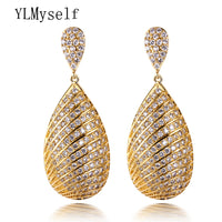 45mm long earrings party anniversary party orecchini crystal sieraden brincos 2019 bijuteria feminina Luxury jewelry for women