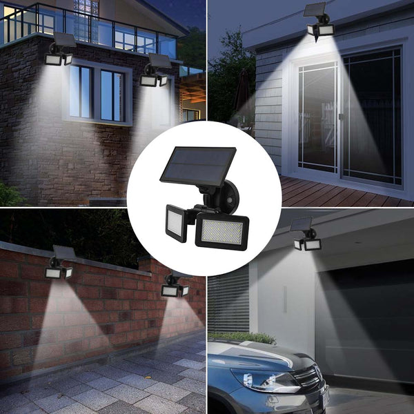 48 LED Solar Wall Light Dual Head Outdoor waterproof LED PIR Motion Sensor Security Landscape garden Yard Flood LED Lamp
