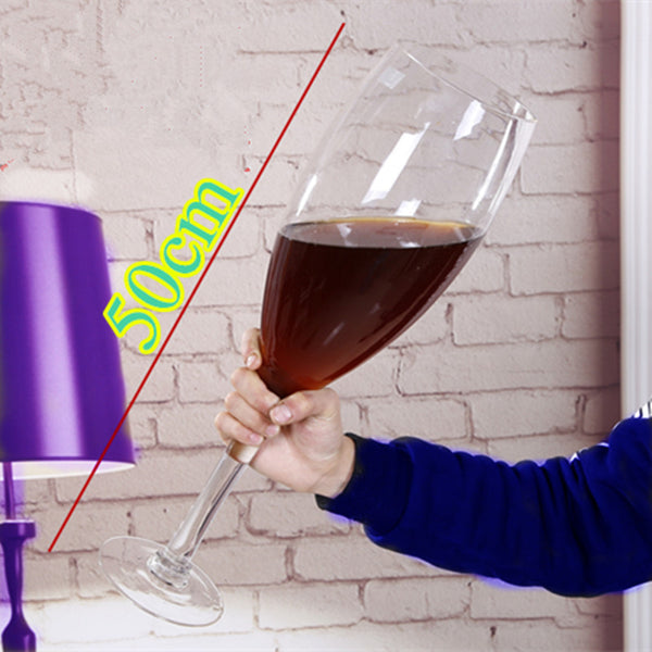 50cm creative Super large champagne glass hanap red wine goblet cup ktv big capacity beer mug drinking glasses home hotel decor