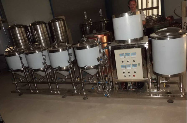 50l home brew equipments/ semi-automatic home brewing turnkey project/ draft beer making machine