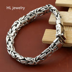 59G Alibaba Express 925 Sterling Silver Jewelry Bracelet for Women Men Vintage S925 Width 10mm Solid Thai Silver Chain Bracelets