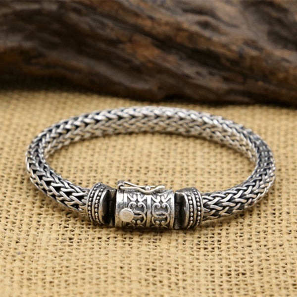 59G Alibaba Express 925 Sterling Silver Jewelry Bracelets for Women Men Vintage S925 Solid Thai Silver Chain Bracelets