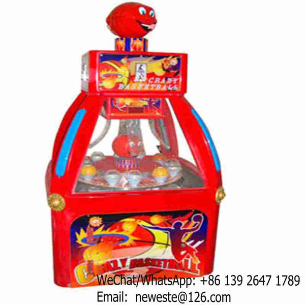 5pcs, Crazy Basketball Coin Operated Amusement Arcade Lottery Tickets Redemption Game Machine