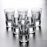 6 Pcs Thule Shot Glass Set Bold Household Bar Club Tumbler Firewater Liquor Wine Cocktail Pint Bullet Cup Una Tazza Rack Verre